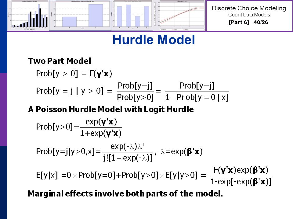[Part 6] 40/26 Discrete Choice Modeling Count Data Models Hurdle Model