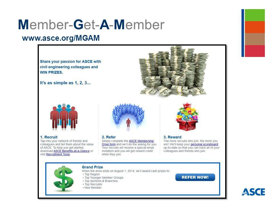 Member-Get-A-Member www.asce.org/MGAM