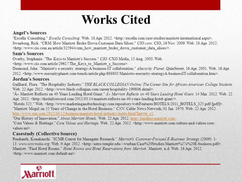 Works Cited Angel's Sources