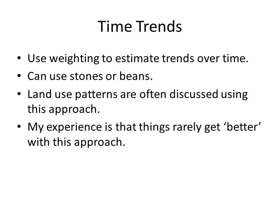 Time Trends Use weighting to estimate trends over time.
