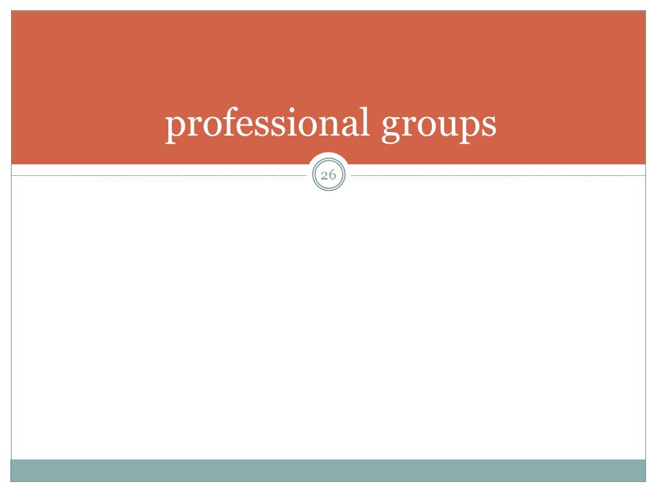 professional groups 26