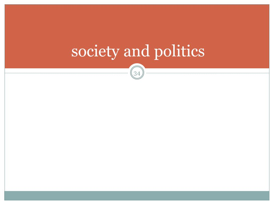 society and politics 34