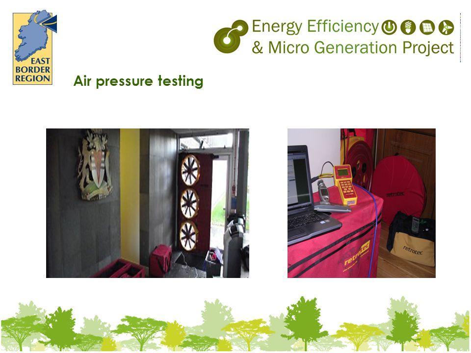 Air pressure testing