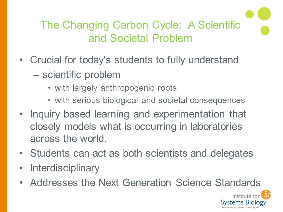 Common problem/story is ocean acidification http://www.esrl.noaa.gov/gmd/ccgg/trends/history.html Each of our modules has an inherently interdisciplinary, systems problem or situation that allows students to learn about the process of research.