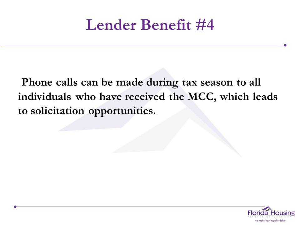 Lender Benefit #3 By putting REAL cash in your borrowers pockets, you will increase referrals from happy borrowers.