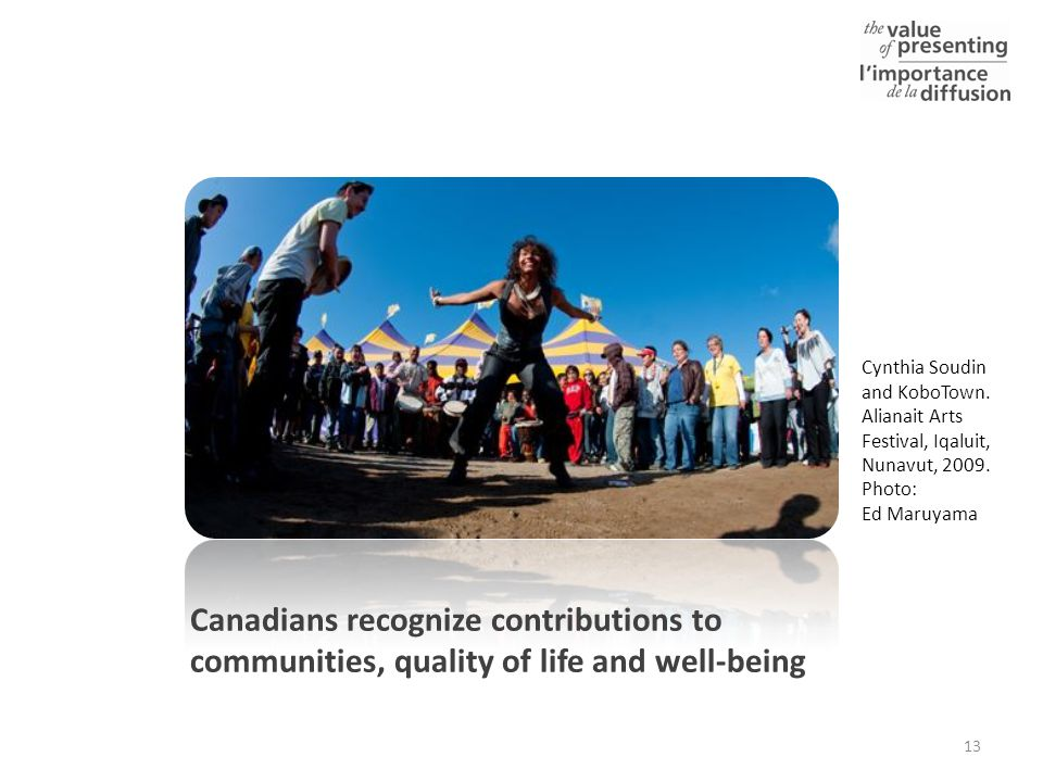 Canadians recognize contributions to communities, quality of life and well-being 13 Cynthia Soudin and KoboTown.