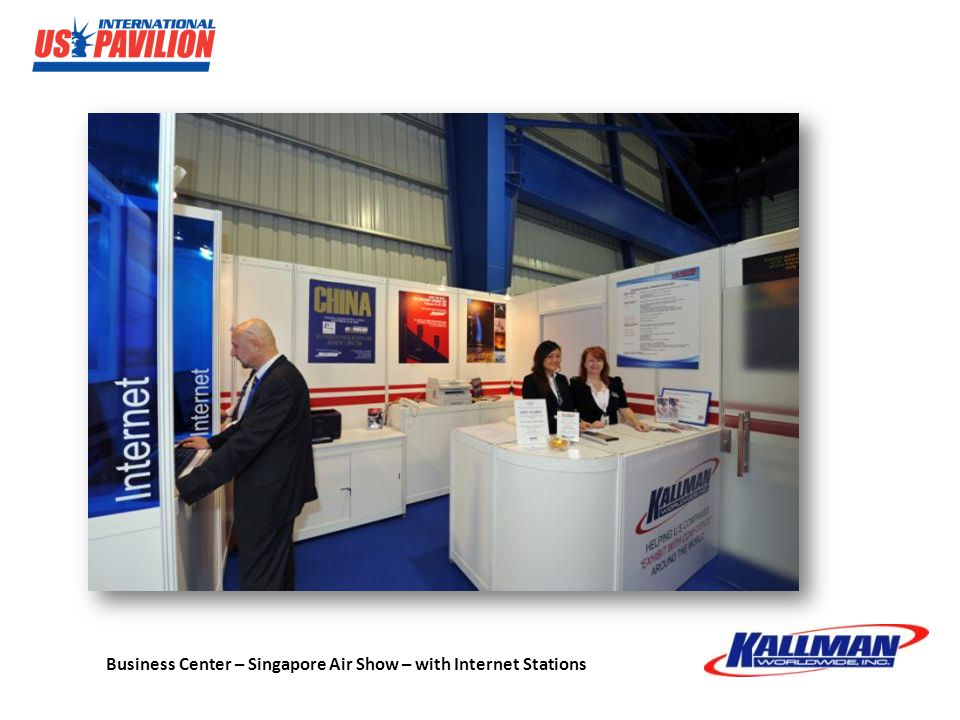 Business Center – Singapore Air Show – with Internet Stations