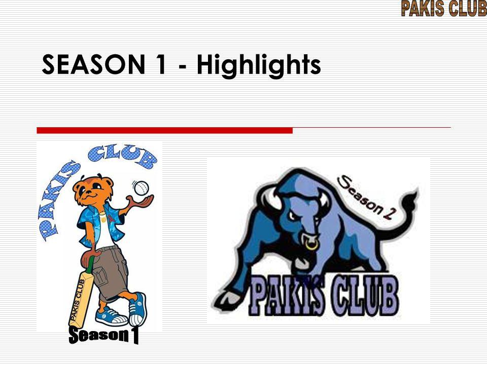 SEASON 1 - Highlights