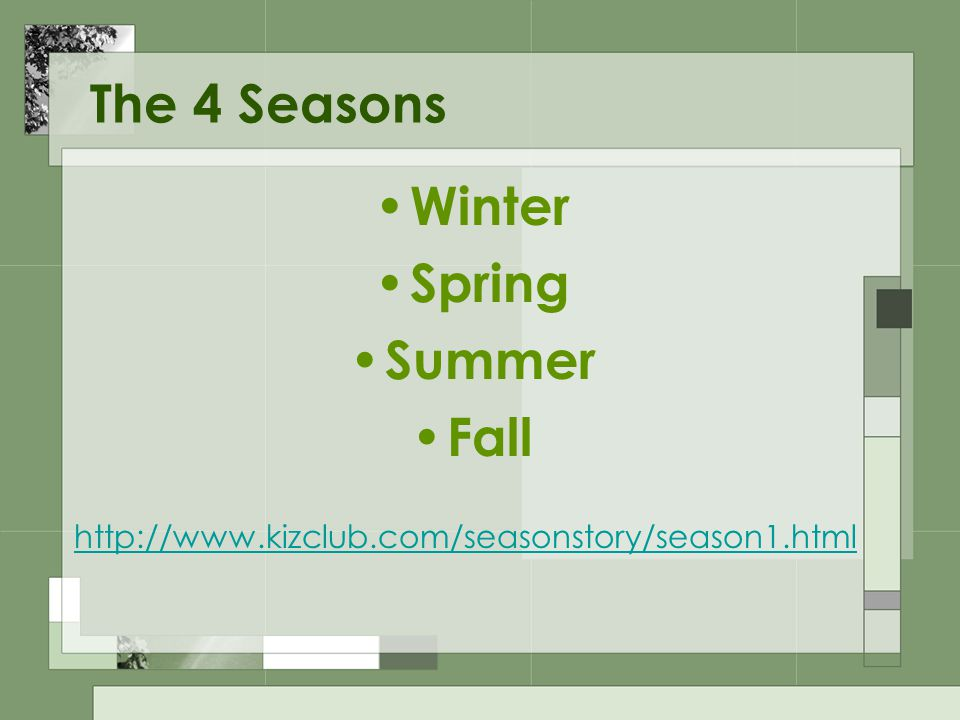 Seasons SOL 1.7 Created by K. Green ITRT – Suffolk City Schools