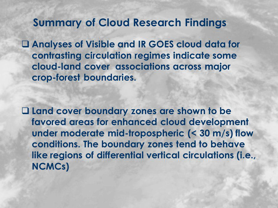Focus of Land Surface-Climate Work: Modeling Studies Improving the representation of land surface heterogeneity (land cover; soil moisture; soil type) in the Colorado State University Regional Atmospheric Modeling System (RAMS) ( Adegoke et al.