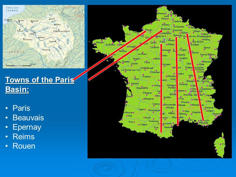 Towns of the Paris Basin: Paris Beauvais Epernay Reims Rouen