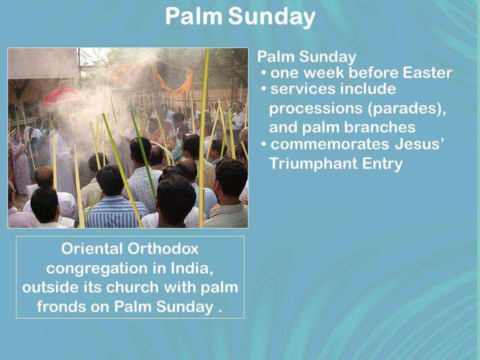 Holy Week Sunday Palm Sunday Wednesday Holy Wednesday Thursday Maundy Thursday Friday Good Friday