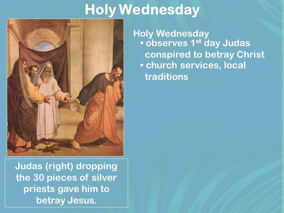 Holy Thursday Catholic priest washing feet, Holy Thursday.
