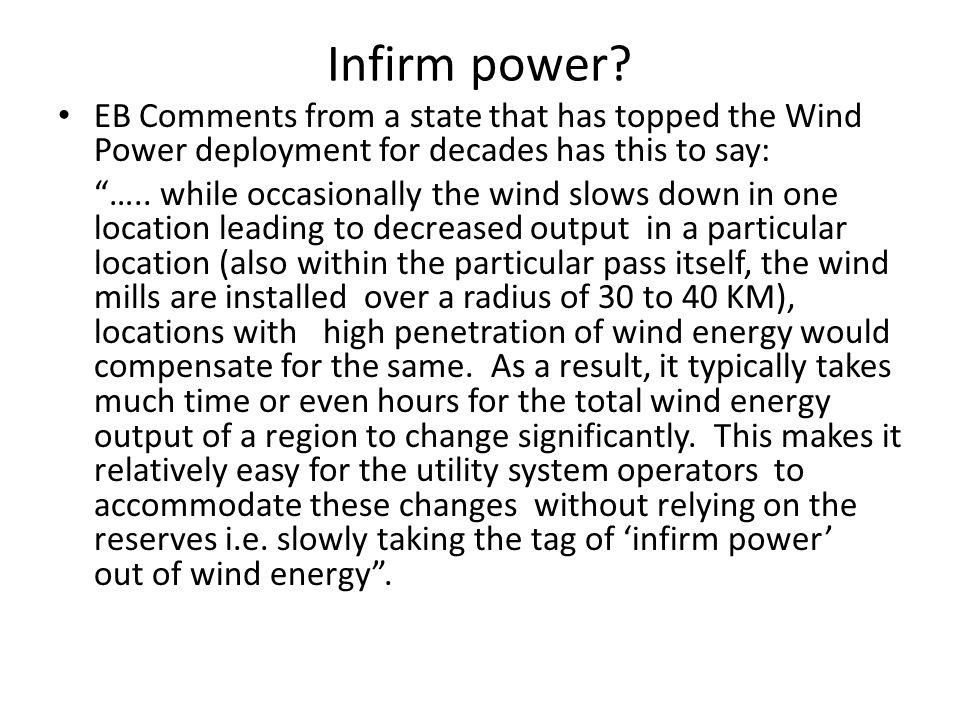 Infirm power.