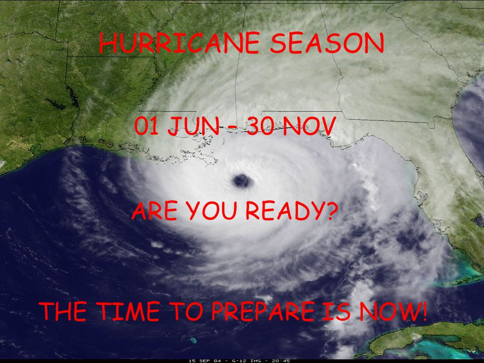 HURRICANE SEASON 2014 Forecasters predict a fairly quiet active season - 8-13 named storms -3-6 hurricanes -1-2 major hurricanes (Cat 3 or higher) -35% chance a major hurricane will make US landfall (average is 52%) -19% chance a major hurricane will make landfall along the US Gulf Coast (average is 30%)