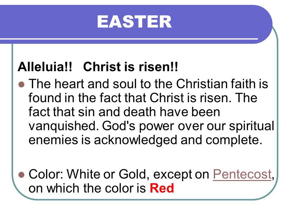 EASTER Alleluia!.Christ is risen!.