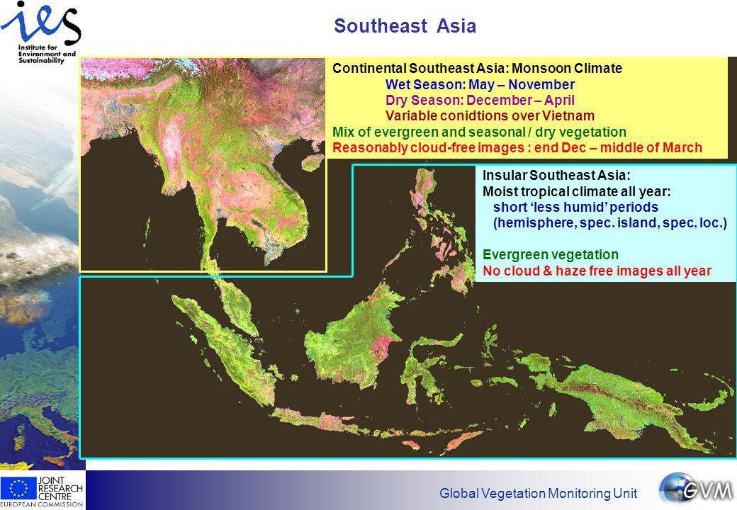Global Vegetation Monitoring Unit Example for good quality 10 - day mosaic: February 1999