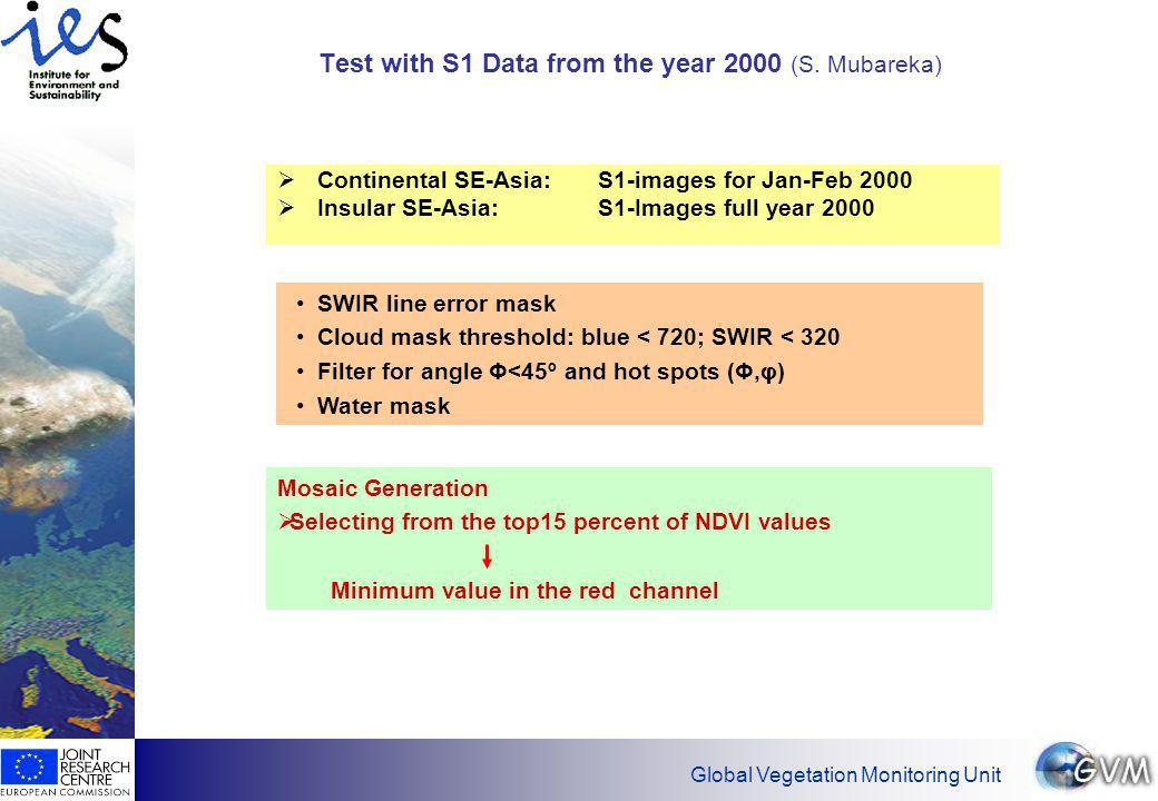 Global Vegetation Monitoring Unit The End…