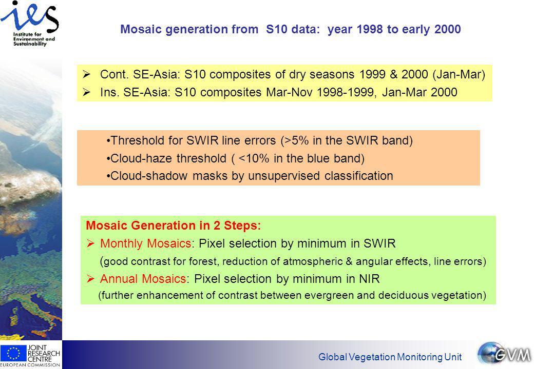 Global Vegetation Monitoring Unit Mosaic detail: Continental SE-Asia