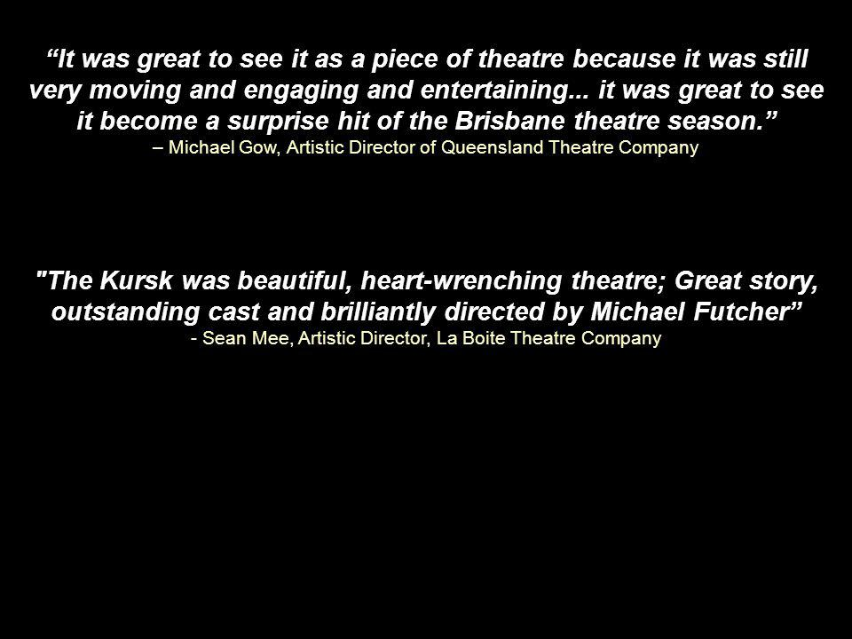 OUTSTANDING REVIEWS...proves yet again that the best theatre really is about the best stories - Time Off
