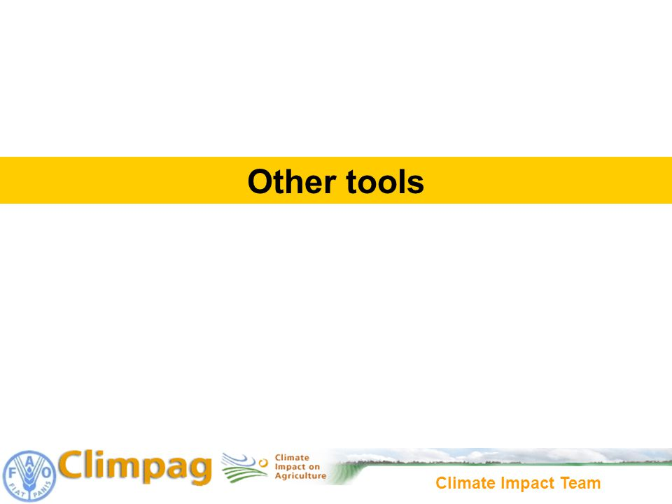 Climate Impact Team Other tools