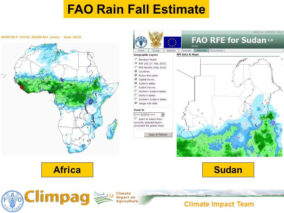 Climate Impact Team AfricaSudan FAO Rain Fall Estimate