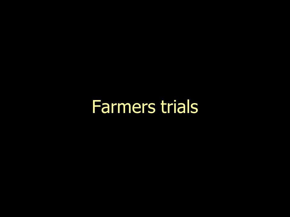 Farmers trials