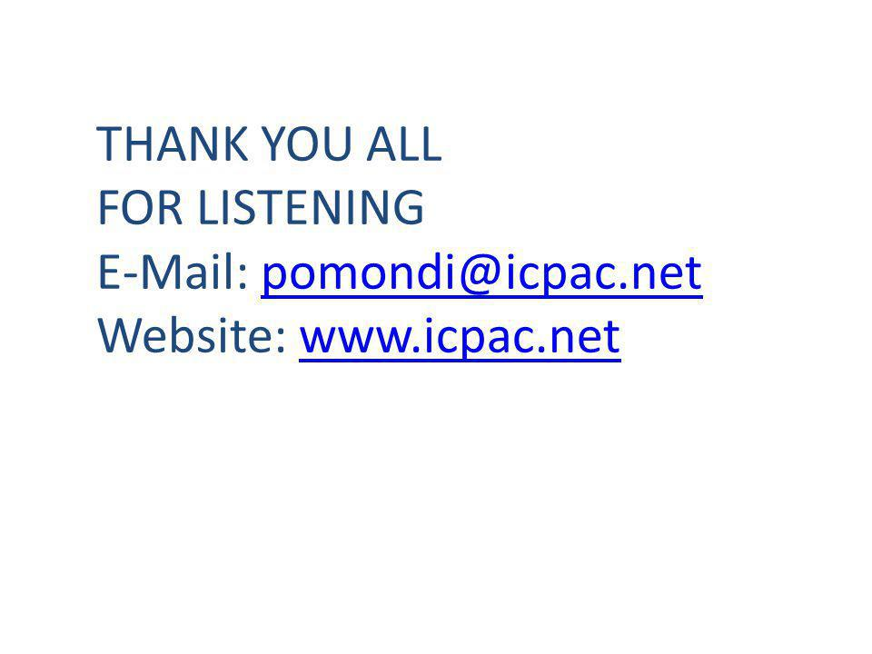 THANK YOU ALL FOR LISTENING E-Mail: pomondi@icpac.netpomondi@icpac.net Website: www.icpac.netwww.icpac.net