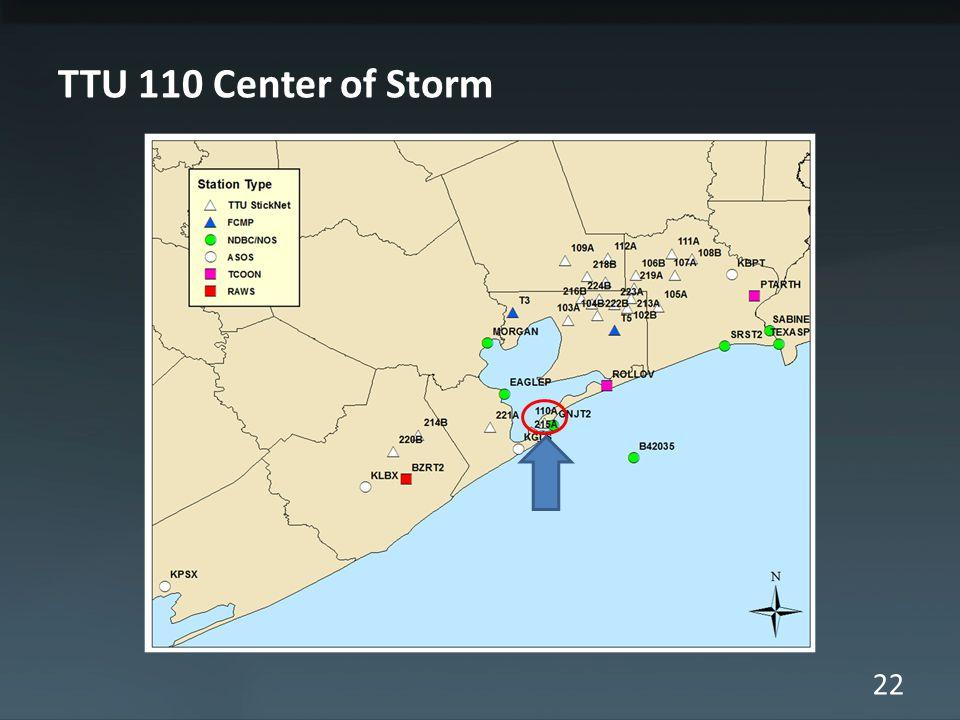 22 TTU 110 Center of Storm