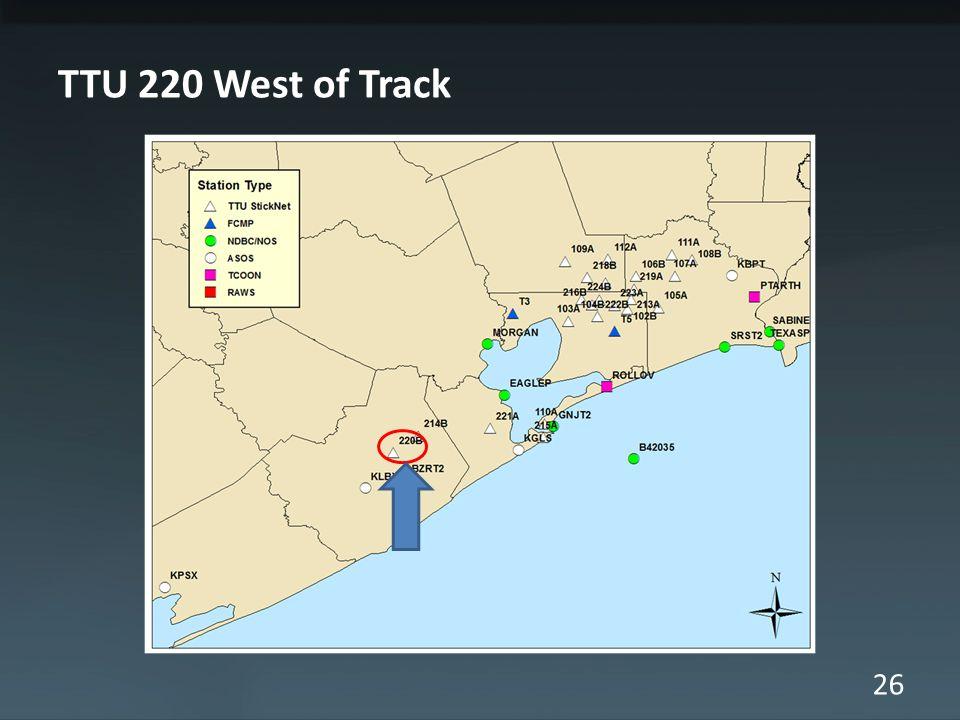 26 TTU 220 West of Track