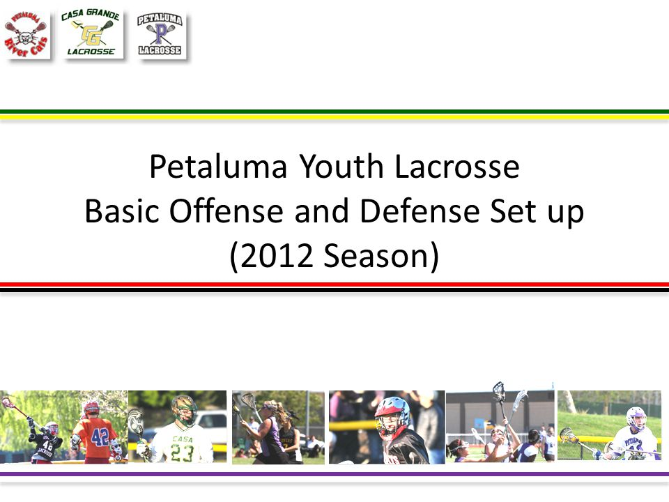 Petaluma Youth Lacrosse Basic Offense and Defense Set up (2012 Season)