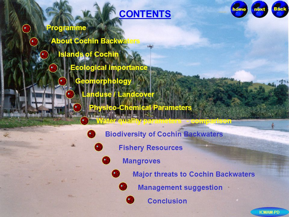 Government of India Department of Ocean Development Integrated Coastal and Marine Area Management Project Directorate, Chennai April 2002 ICMAM-PD