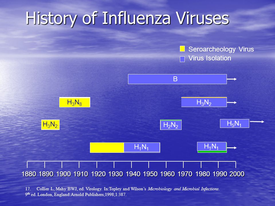 History of Influenza Viruses 17. Collier L, Mahy BWJ, ed.