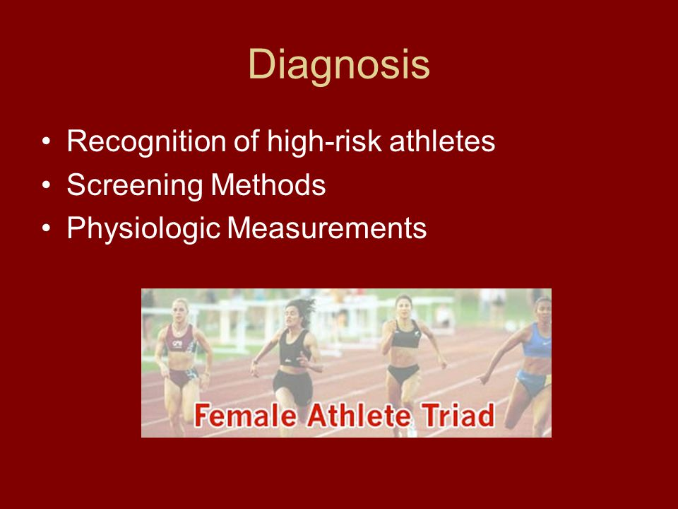 Recognition of high-risk athletes Screening Methods Physiologic Measurements