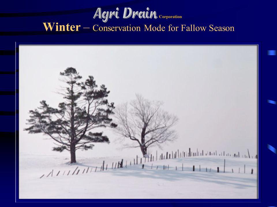 Winter – Conservation Mode for Fallow Season