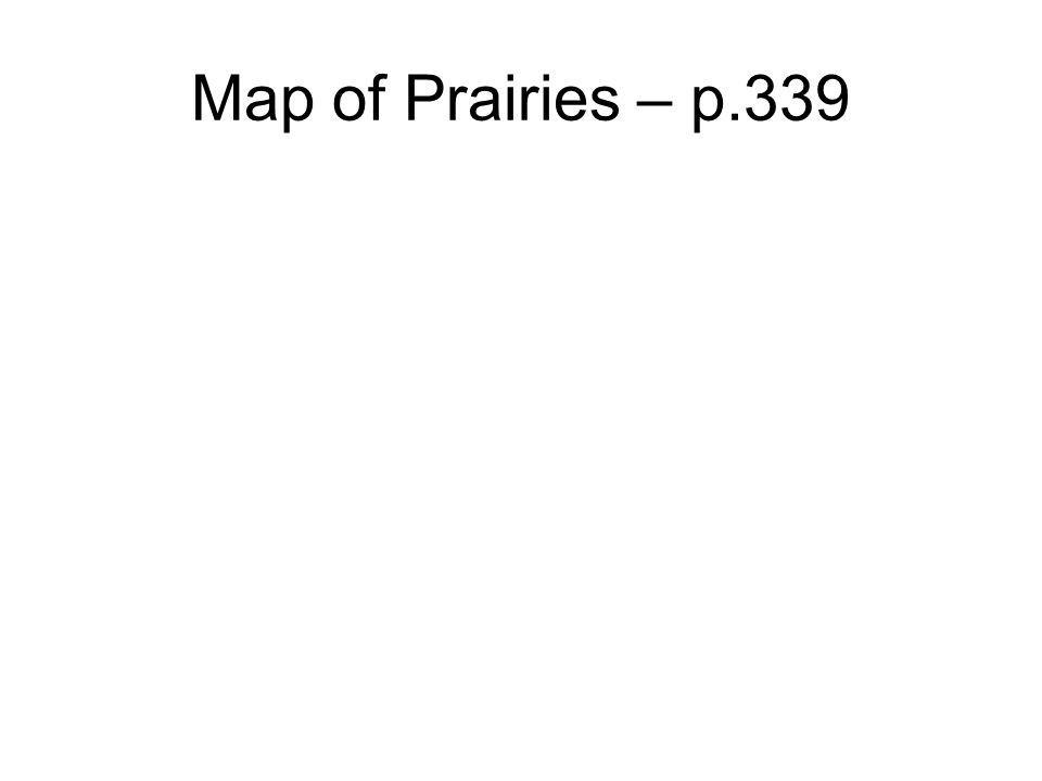 Map of Prairies – p.339