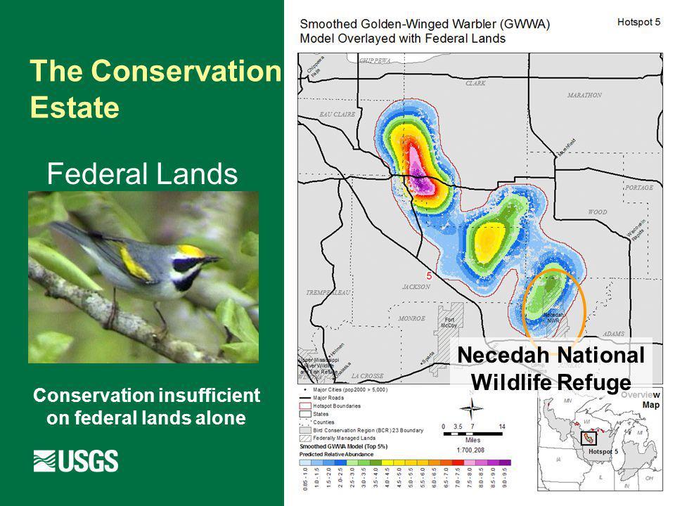 Federal Lands The Conservation Estate Necedah National Wildlife Refuge Conservation insufficient on federal lands alone