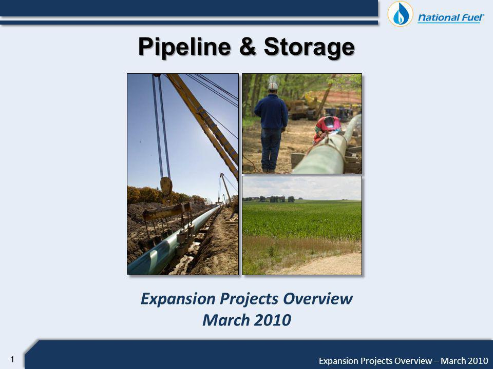 12 Expansion Projects Overview – March 2010 Pipeline & Storage Tioga County Extension Project Drivers Existing Tennessee Gas Pipeline 300 Line is at capacity Strong backwards basis differential Provides incremental transportation capacity for Marcellus Production to TGP 200 Line, TransCanada, Millennium, and on-system markets Reverses flow on existing system minimizing incremental facilities Direct-connect production in Tioga County, PA and eventually Steuben County, NY
