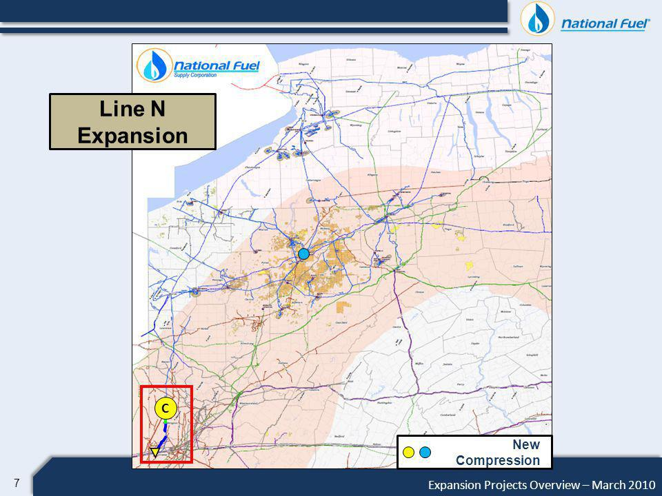18 Expansion Projects Overview – March 2010 Production Drainage from: 3 Million Acres 301 Miles of Pipeline