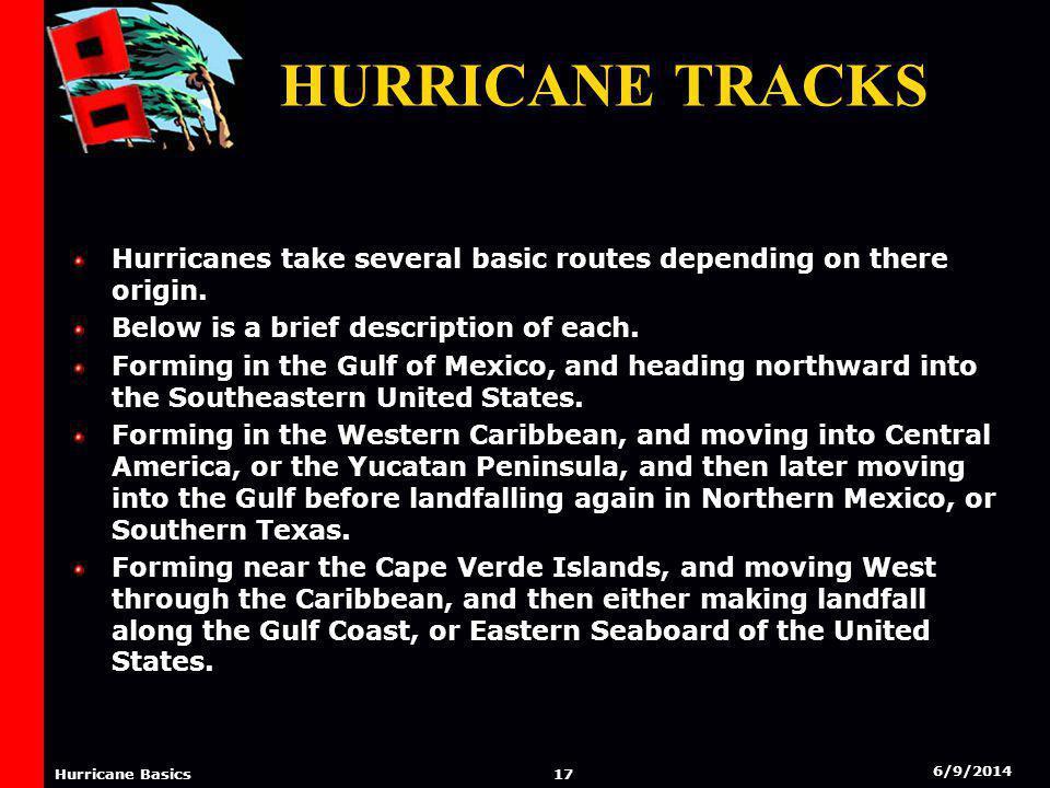 6/9/2014 16 Hurricane Basics Hurricane Tracks