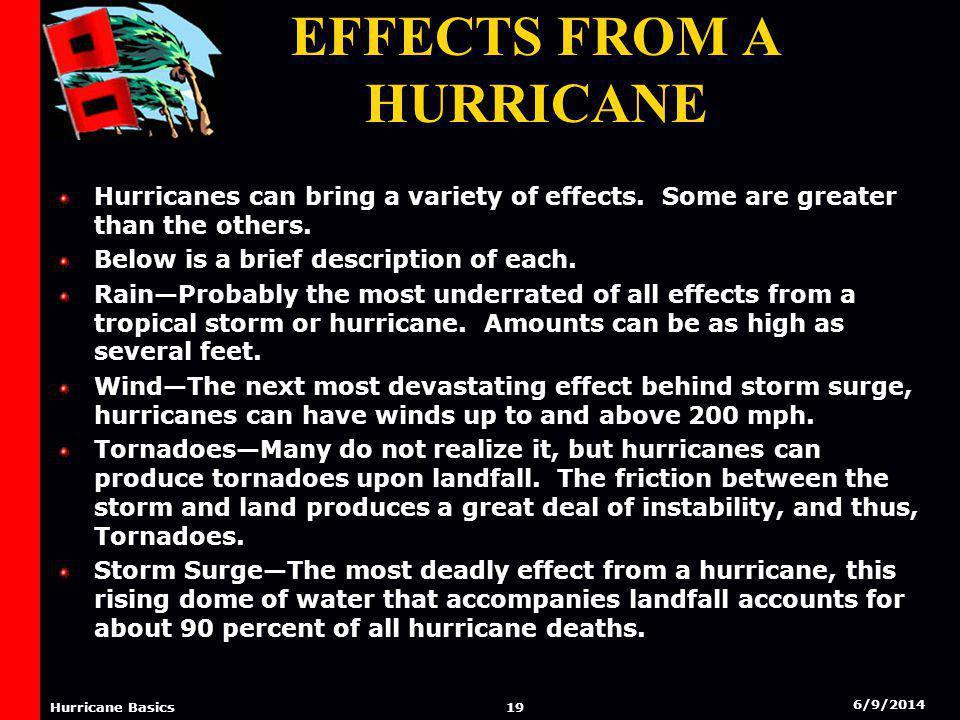 6/9/2014 18 Hurricane Basics Effects From A Hurricane