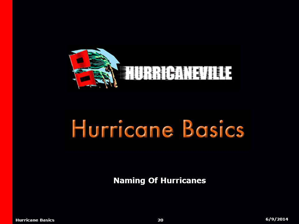 6/9/2014 19 Hurricane Basics EFFECTS FROM A HURRICANE Hurricanes can bring a variety of effects. Some are greater than the others. Below is a brief de