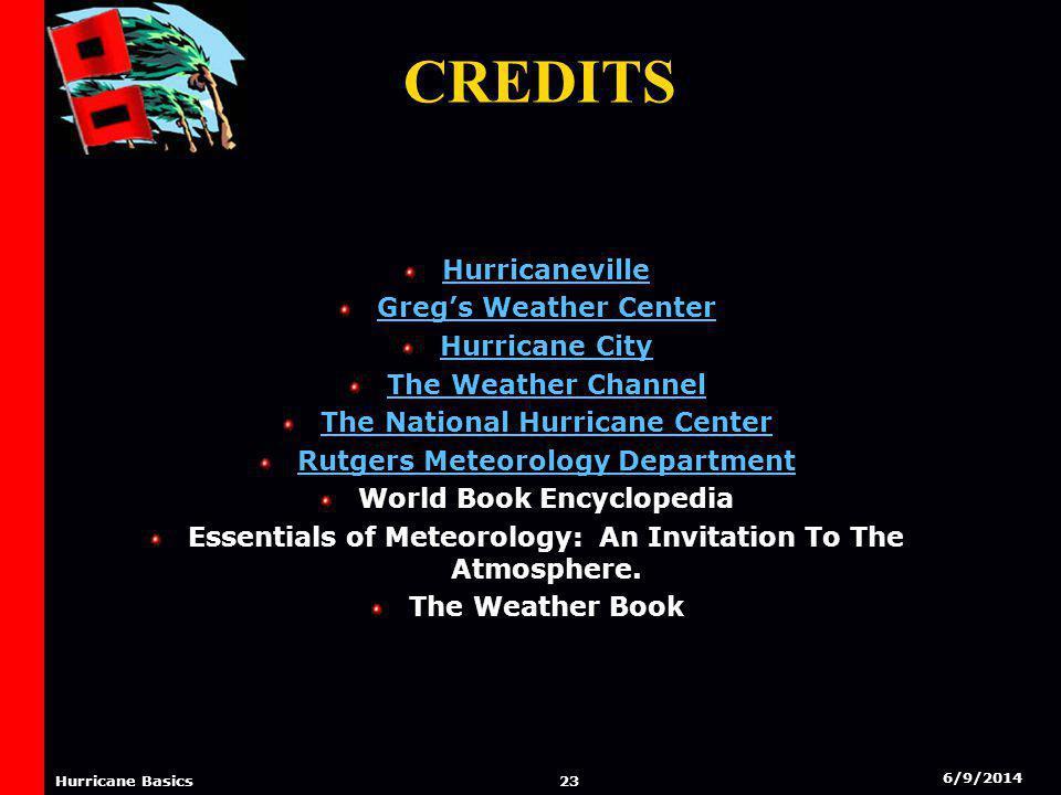 6/9/2014 22 Hurricane Basics Credits