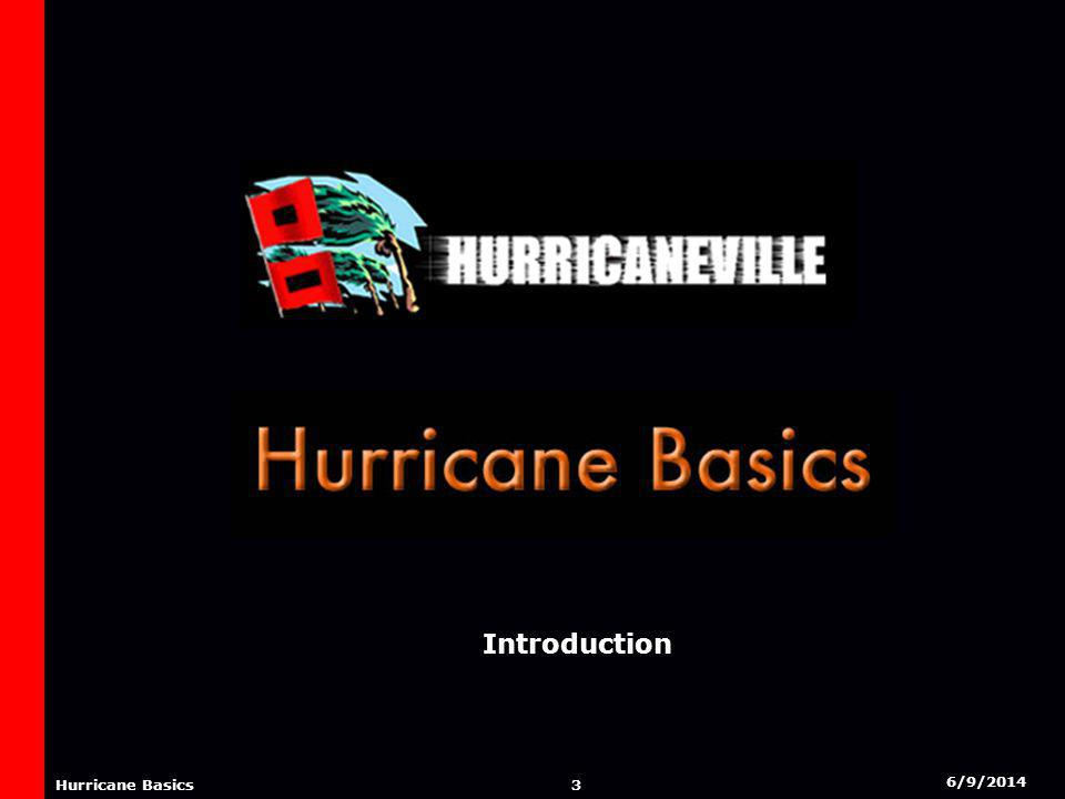 6/9/2014 2 Hurricane Basics AGENDA Introduction Factors In Hurricane Development Stages Of Hurricane Development The Saffir-Simpson Scale Components of a Hurricane Origins of a Hurricane Hurricane Tracks Effects from a Hurricane Naming of Hurricanes Credits