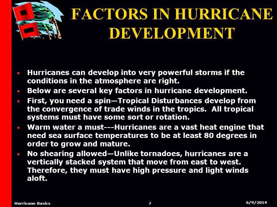 6/9/2014 6 Hurricane Basics Factors In Hurricane Development