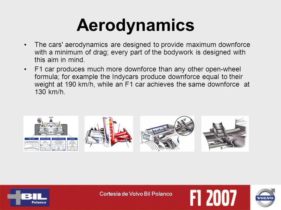 Cortesía de Volvo Bil Polanco Aerodynamics The cars' aerodynamics are designed to provide maximum downforce with a minimum of drag; every part of the