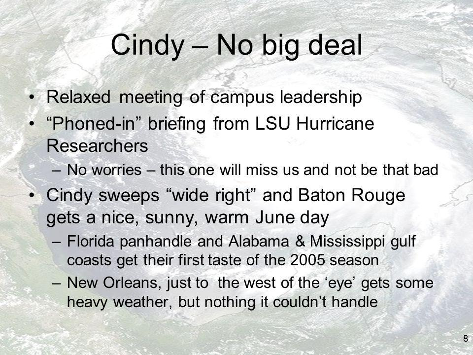 39 Lessons Learned at LSU Have a good stock of networking equipment, and mobile and desktop computing in the storeroom –Plan to raid campus labs & empty desks if need be Have strong relationships with key vendors Great to have terrific, dedicated, service-oriented people Architectures count – how divisible are the components.