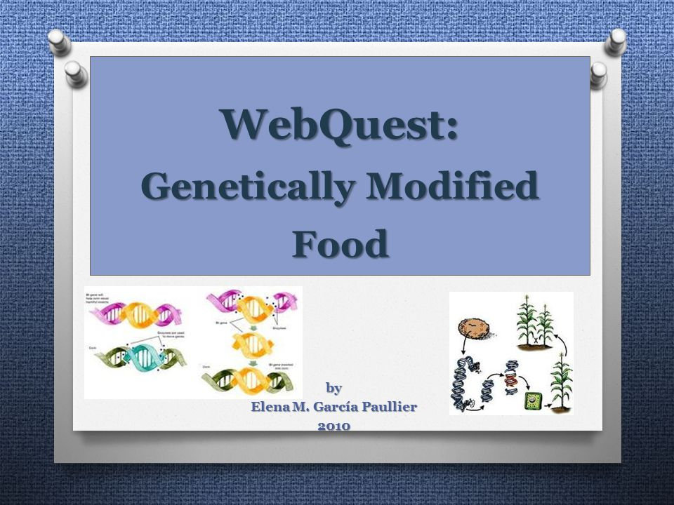 WebQuest: Genetically Modified Food by Elena M. García Paullier 2010