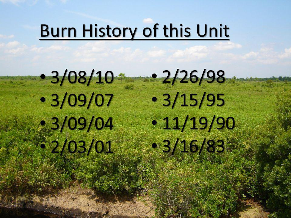 Burn History of this Unit 3/08/10 3/08/10 3/09/07 3/09/07 3/09/04 3/09/04 2/03/01 2/03/01 2/26/98 3/15/95 3/15/95 11/19/90 11/19/90 3/16/83 3/16/83