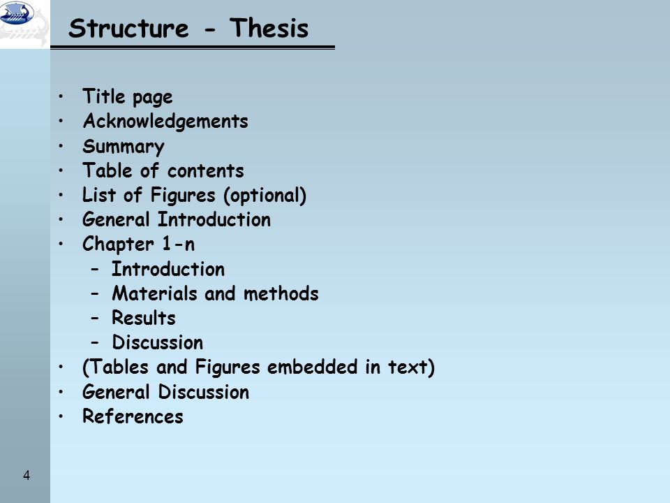 contents of chapter 1 of thesis